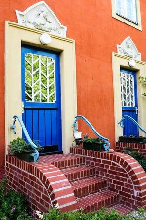 reside: House with blue doors in Potsdam, Germany