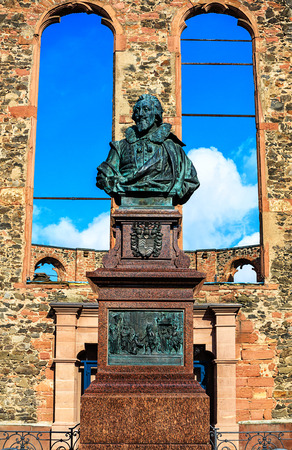 antiwar: Anti-War Memorial Walloon Dutch Church in Hanau, near Frankfurt, Hesse, Germany