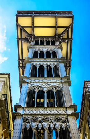 elevador: The Santa Justa in Lisbon, Portugal Stock Photo