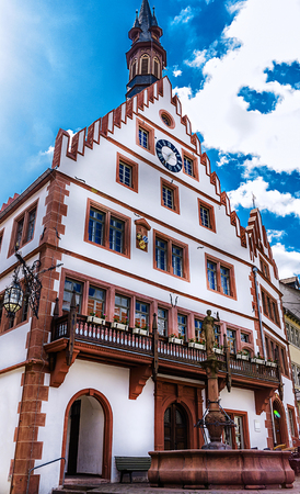 The Old Town Hall in Weinheim, at the Market Place, Baden-Wuerttemberg, Germany Stock fotó