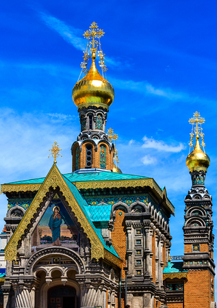 dome type: Saint Mary Magdalene - Russian Orthodox Church - (built in 1897 ? ? 1899) close to the Five Finger Tower in Darmstadt, Hesse, Germany