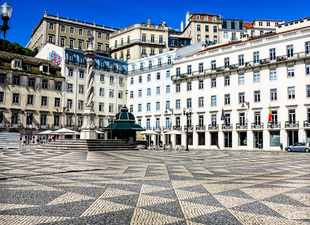 town hall square: The Town Hall Square in Lisbon, Portugal Editorial