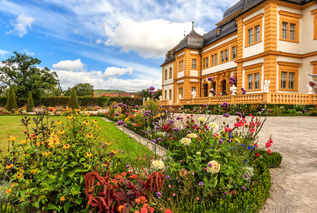 Veitshoechheim Palace near Wuerzburg known of the surrounding Rococo Garden with lakes and waterworks (built 1682), Germany Editorial