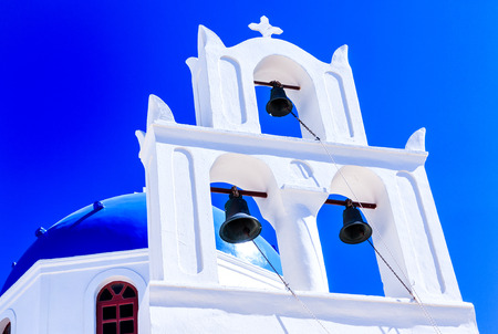 greek islands: White Cycladic Church in Santorini (Oia), Greek Islands, Greece