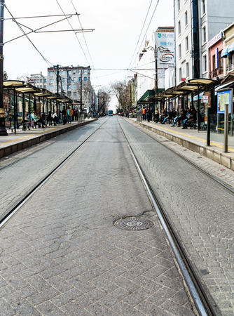 avenues: ISTANBUL, TYRKEY-MARCH 24, 2013: The Istiklal Street is one of the most famous avenues in Istanbul
