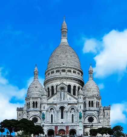 coeur: Paris- Sacre Coeur Basilica Stock Photo