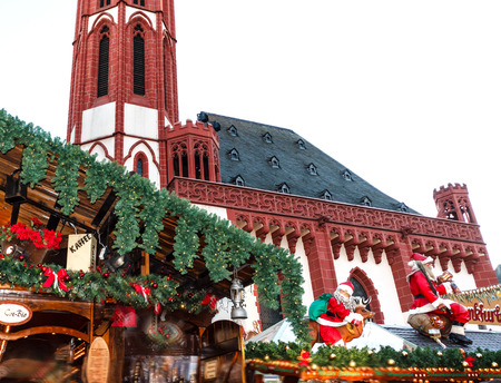 Traditional (since 1393) Christmas Market in historic center of Frankfurt am Main, Germany