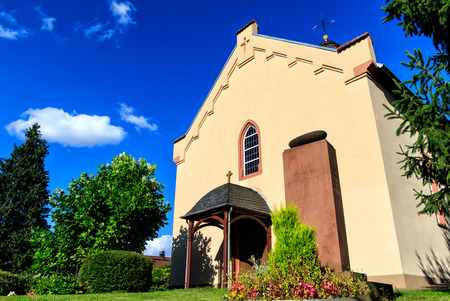 Small german evangelical village church Stock Photo