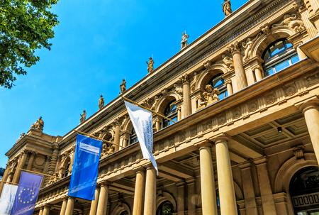 Francfort, Allemagne-17 juillet 2017: Métropole financière de la Bourse de Francfort en Allemagne