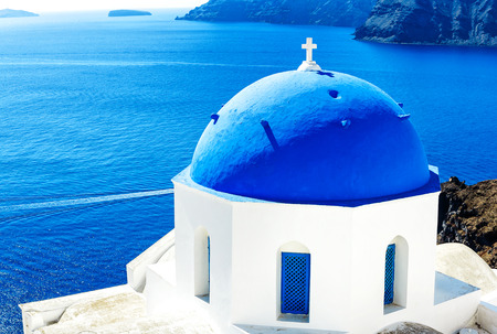 Aegean Sea at Santorini (Oia), Greek Islands, Greece
