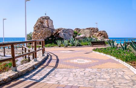 Promenade of Playa Torrecilla in Nerja, Andalucia, Costa del Sol, Spain