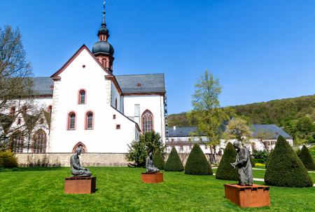 Cistercian Abbey Monastery Eberbach, near Eltville on the Rhine - Mystic heritage of the Cistercian monks in Rheingau, Germany