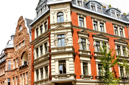 Historic residential building in Goethe city Weimar, Germany