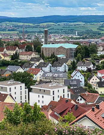 View of the rooftops of Fulda from Petersberg, Germany