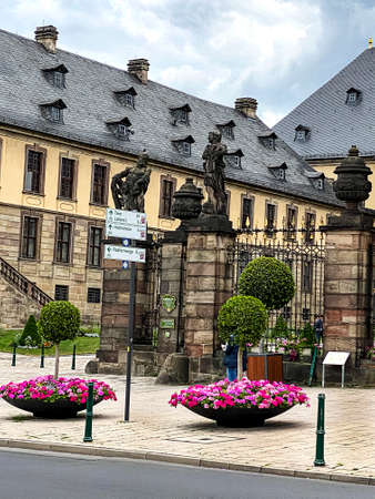 The baroque Fulda town castle was built between 1706 and 1714 as the residence of the Fulda princely bishops, Hesse, Germany
