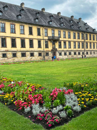 Green oasis in the heart of the city - Palace garden in the baroque city of Fulda, Germany Editoriali