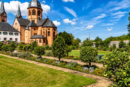 The Klostergarten (Monastery garden) in Seligenstadt, Hesse, Germany