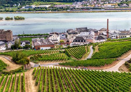 Rudesheim am Rhein, Hesse, Germany - a winemaking town on the Rhine.