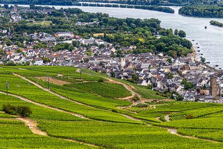 Picturesque winemaking town on the banks of the Rhine - Rudesheim am Rhein, Hesse, Germany