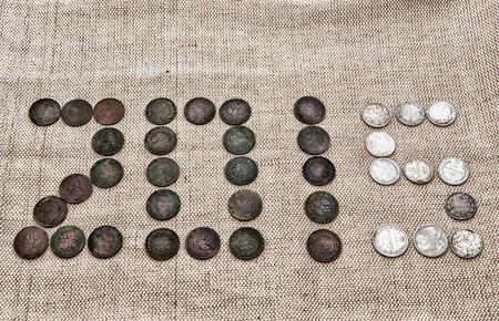 monete antiche: Figura 2015 da monete antiche Archivio Fotografico