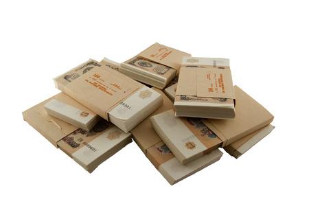 money packs: packs of the Soviet rubles 1991 year