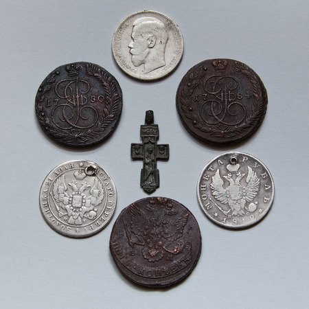 dynasty: Coins of a dynasty of tsars Romanov of 18-20 centuries.