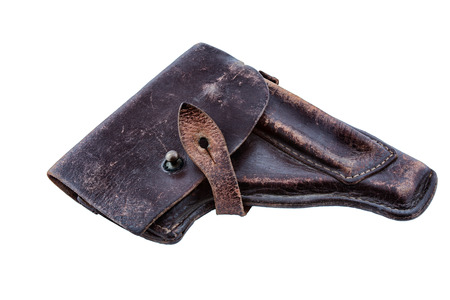 cold war: Leather Case pistol of the Cold War the Soviet Union Stock Photo