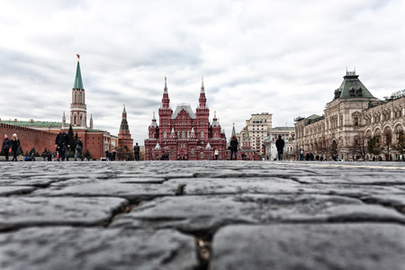 cobbles: Cobbles on the Red Square in Moscow in late autumn