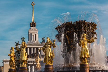 republics: the Friendship of the People fountain at an exhibition of VDNH in Moscow. In an image of 15 girls 15 republics of the USSR are stylized.