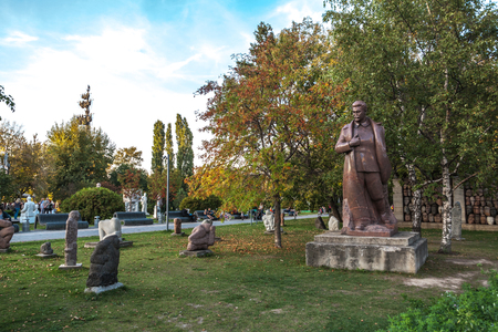 tyrant: Moscow, Russia - September 25, 2015:  City artistic park Muzeon. Tyrant Stalin and his victims. Editorial