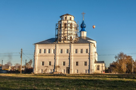 Pereslavl-Zalessky, Russia - October 20, 2015: Church of the Smolensk Icon of the Mother of God. Year of construction between 1694 and 1705. View from the North.