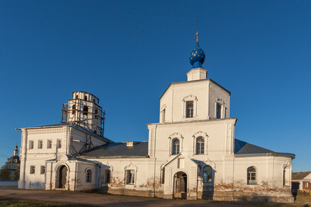 Pereslavl-Zalessky, Russia - October 20, 2015: Church of the Smolensk Icon of the Mother of God. Year of construction between 1694 and 1705. View from the West. Editorial