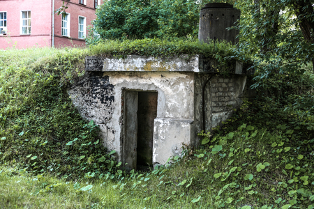 cold war: factory air-raid shelter of the middle of the twentieth century of times of cold war