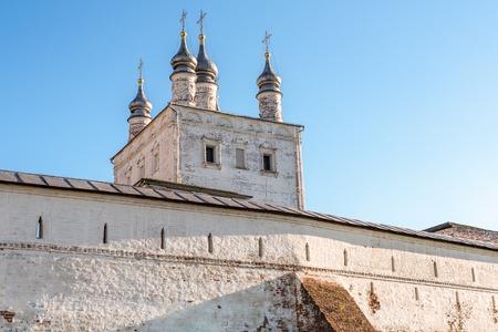 swept: Pereslavl Zalessky, Russia - July 21, 2016: Goritsky Monastery of Dormition. Church of All Saints of 1670 of construction.