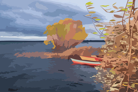 The end of a fishing season Illustration