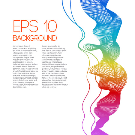 Colored smoke rainbow background for brochure. Vector illustration.