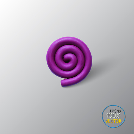 whirpool: Vector illustration spiral background object. Plasticine modeling. Illustration