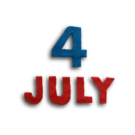 modeling: The fourth of July, American Independence Day background vector. Plasticine modeling.