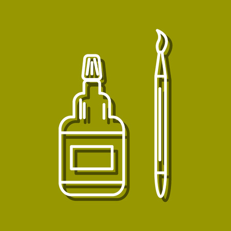 Linear Icon Of Glue Tube And Brush For Use In Icon Or Web Design Royalty Free Cliparts Vectors And Stock Illustration Image 43341230