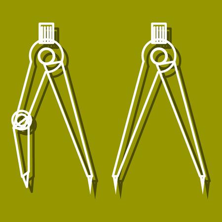 perspectiva lineal: icono lineal de separadores para su uso en icono o dise�o web. A menudo se utiliza para el regreso a la escuela de dise�o, tiendas de papeler�a. ilustraci�n vectorial moderna para la tienda web y aplicaci�n m�vil.