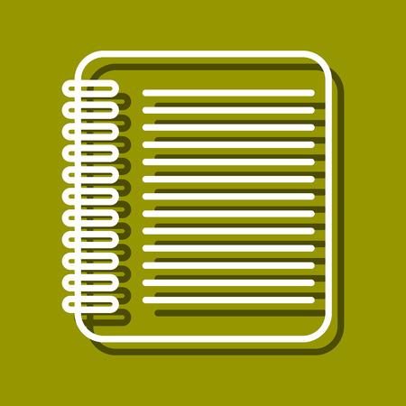 chancellery: Linear icon of sheet for use in icon or web design. Often used for back to school design, stationery stores. Modern vector illustration for web store and mobile app.