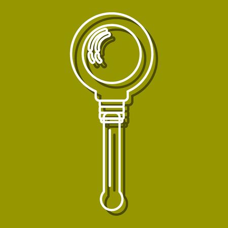 perspectiva lineal: Icono lineal de lupa para su uso en icono o diseño web. A menudo se utiliza para volver a la escuela de diseño, tiendas de papelería. Ilustración vectorial moderna para la tienda web y aplicaciones móviles. Vectores