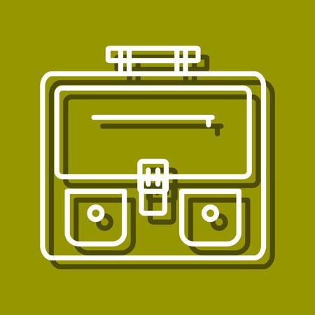 perspectiva lineal: icono lineal de mochila para su uso en icono o dise�o web. A menudo se utiliza para el regreso a la escuela de dise�o, tiendas de papeler�a. ilustraci�n vectorial moderna para la tienda web y aplicaci�n m�vil.