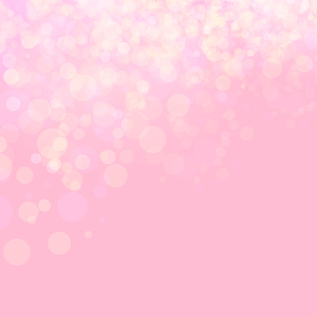 Pink shines wedding love bokeh abstract background. Vector illustration. Festive defocused lights.