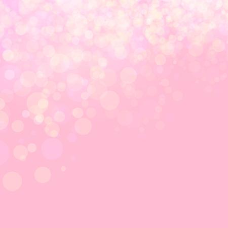 Pink shines wedding love bokeh abstract background. Vector illustration. Festive defocused lights.