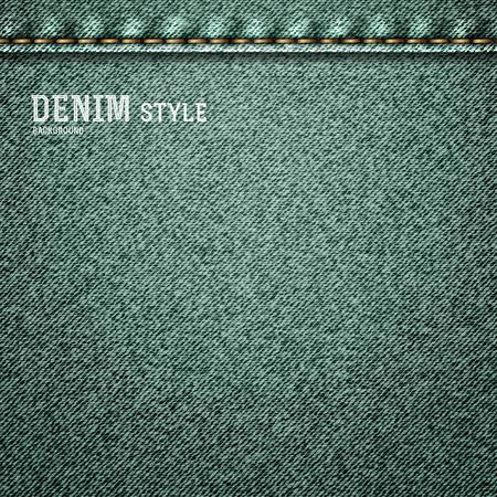 khaki pants: Denim, gray jeans texture with label in vintage design. Vector illustration.