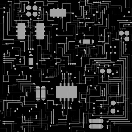 electronic background: Abstract hi-tech electronic background with circuit board texture. Vector illustration.