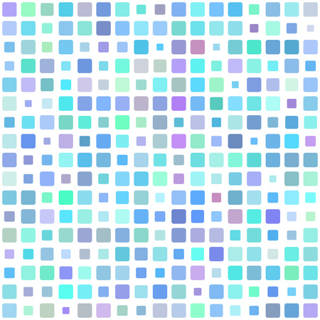 bathroom tiles: Vector seamless pattern. Abstract background texture with random square tiles. Design for cover, textile, pool, kitchen, bathroom. Illustration
