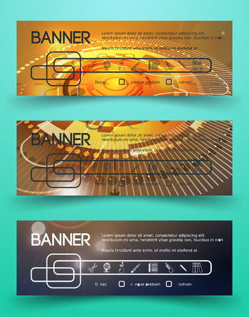 documentation: Classic Corporate Identity Template with circular abstract spaceship design. Business Documentation. Background for Banners.