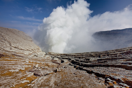 Volcano in Indonesia Stock Photo